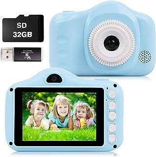 CKATE Kids Camera Toys Appareil Photo Selfie Numérique à Double Objectif pour Enfants de 3 à 10 Ans Écran Couleur 3,5 Pouc...