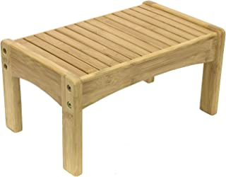 Sorbus Small Bamboo Step Stool [New-Improved Design] Great Foot Rest Stool & Potty Training Stool for Kids Toddlers