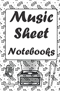 Music Sheet Notebooks: For All Ages And Practice Music Books 6x9in 150pages