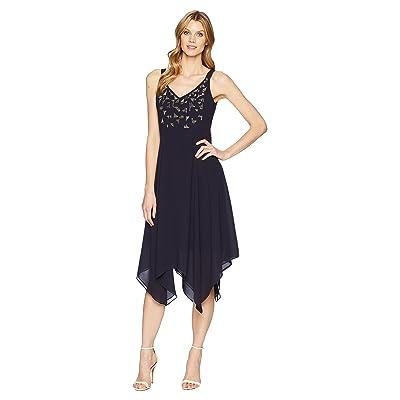NIC+ZOE Riviera Chiffon Dress (Twilight) Women