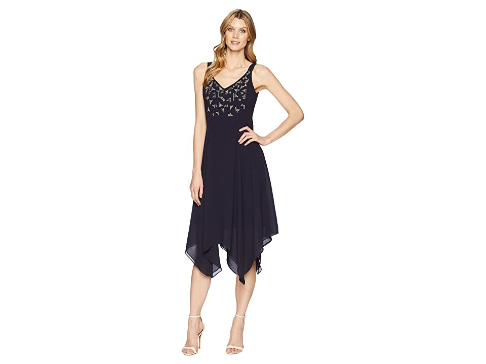 NIC+ZOE Riviera Chiffon Dress (Twilight) Women