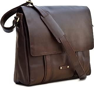 Style n Craft 392005 Messenger Bag in Full Grain Leather in Dark Brown