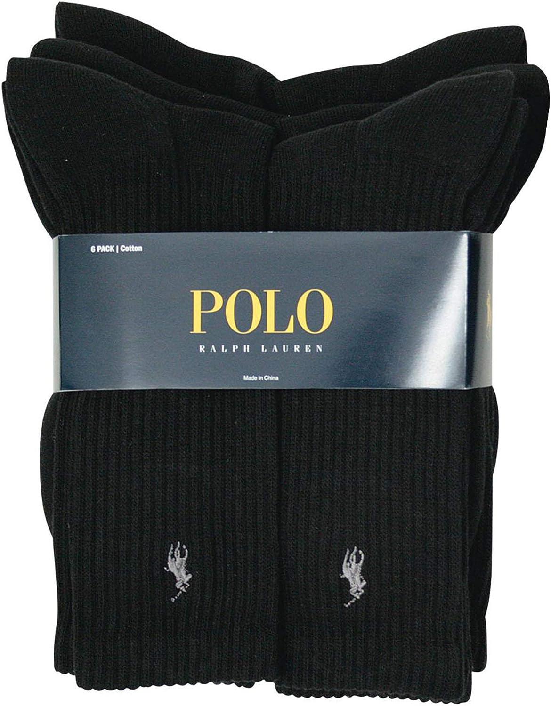 Polo Ralph Lauren Men's Classic Ribbed Crew Socks - 6 Pack