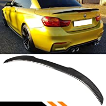 Cuztom Tuning Fits for 2014-2018 BMW F33 4 Series & F83 M4 Convertible Coupe Carbon Fiber Trunk Spoiler Wing - M4 V Style