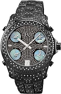 JBW Luxury Men's Jet Setter 234 Diamonds Five Time Zone Swiss Movements Watch - JB-6213-B