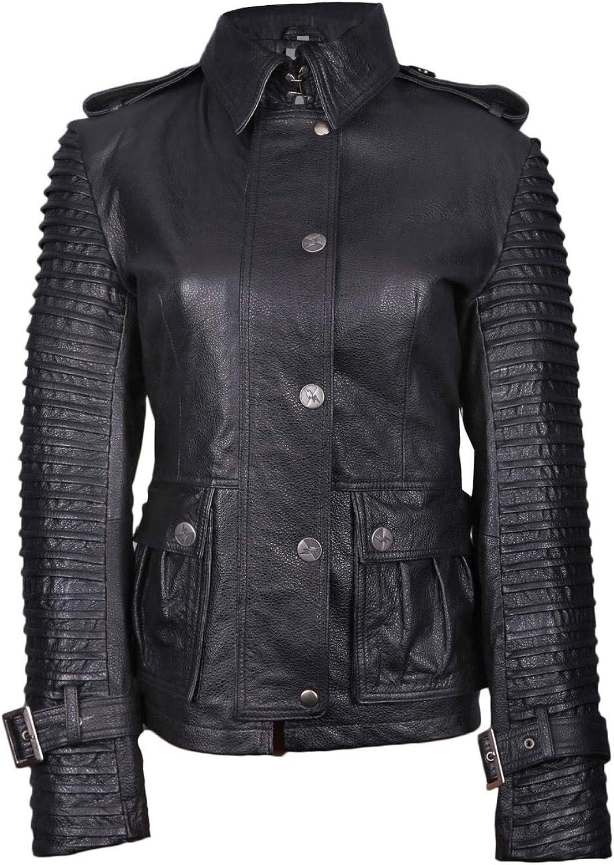 TheSmartSales Black Designer Faux Leather Jacket for Women