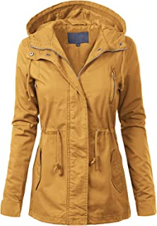 Women's Lightweight Front Zipper Solid Utility Anorak Hoodie Vest/Jacket