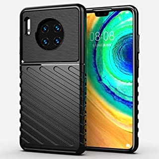 QFH For Huawei Mate 30 Thunderbolt Shockproof TPU Soft Case(Black) new style phone case (Color : Black)