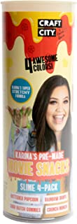 Craft City Karina Garcia Slime Kit | 4 Pack | Pre Made Slime | Ages 8+ (Movie Snacks)