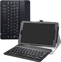 Alcatel 3T 8 Wireless Keyboard Case,LiuShan Detachable Wireless Keyboard Standing PU Leather Cover for 8.0