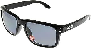 Oakley Holbrook Sunglasses Polished Black with Grey Polarized Lens