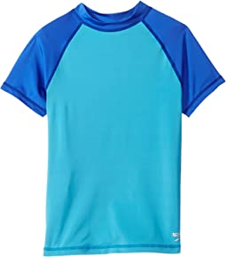 Speedo Kids Color Block Rashguard (Big Kids)