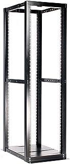 "StarTech.com 42U Open Frame Server Rack - 994.5lbs capacity - 4 Post Adjustable Depth (22"" to 40"") Network Equipment Rack w/ Casters (4POSTRACKBK)"