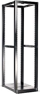StarTech.com 42U 4 Post Open Frame Server Rack - Adjustable Floor Standing Data Rack - Computer / Network Cabinet (4POSTRACKBK)