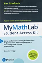 Mylab Math with Pearson Etext -- Standalone Access Card -- For Using and Understanding Mathematics with Integrated Review (My Math Lab)