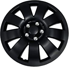 Tuningpros WC1P-17-721-B - Pack of 1 Hubcap (1 Piece) - 17-Inches Style 721 Snap-On (Pop-On) Type Matte Black Wheel Covers Hub-caps