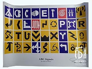 "Alfabeto ""ABC Signals"" obra de Fabio De Minicis Póster tamaño 70 x 100 cm sin enmarcar"