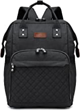 Kono Multi-Function Waterproof Diaper Bag Travel Backpack Nappy Bags for Baby Care Large Capacity Nursing Mummy Handbag (Black 6705)