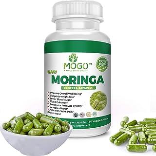 180 Organic Moringa Leaf Powder Capsules -Max 2100mg Per Serving.Immune and Energy Booster,Multivitamin,Boost Metabolism,N...