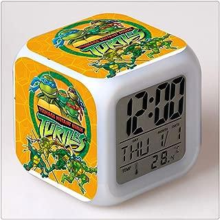 Elven Street Teenage Mutant Ninja Turtles Color Change Glowing Digital Alarm Clock Gift for Family Child Friend(Multiple Pattern) …