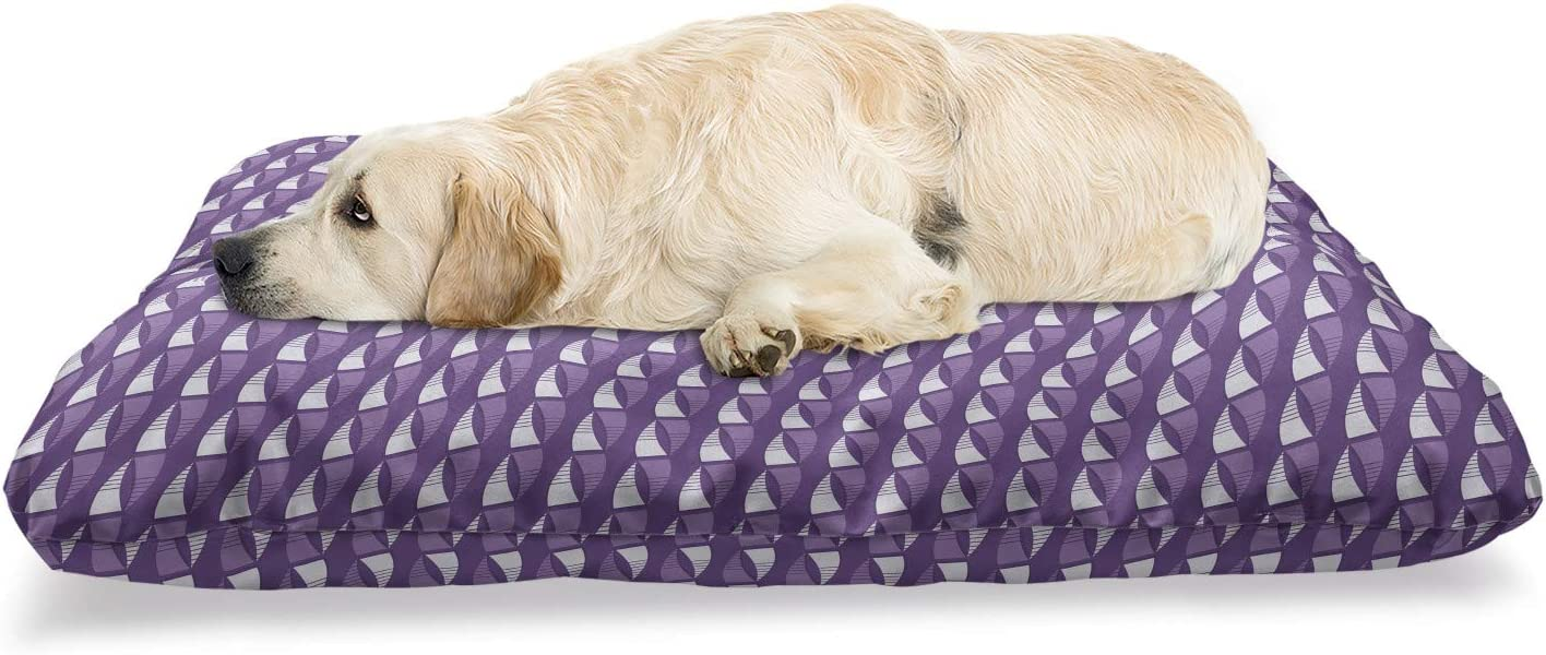 Ambesonne Abstract Cheap Geometry Pet Bed Diagonally Pattern Max 70% OFF of Arran