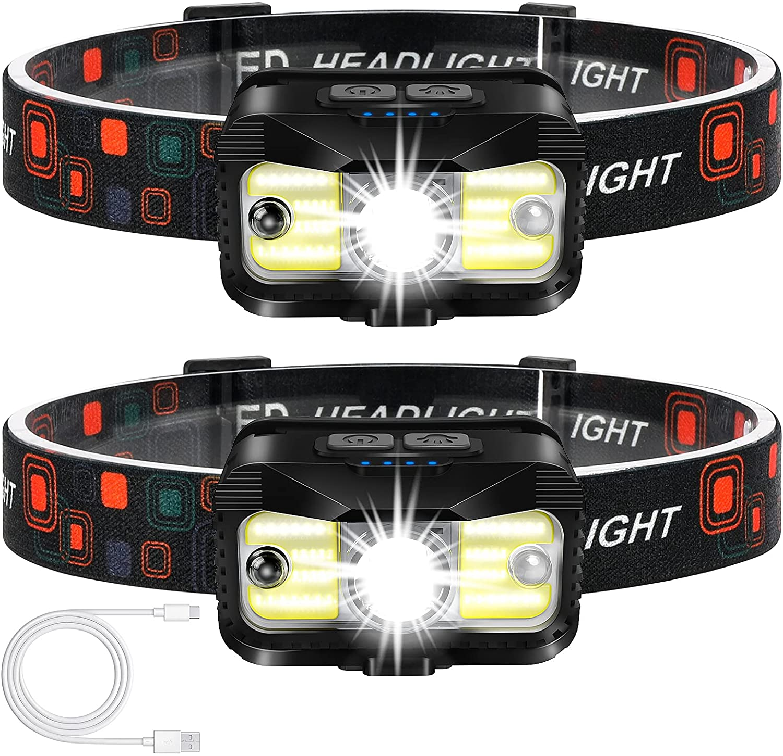 Headlamp Rechargeable, ALIPRET 1100 Lumen Super Bright Motion Sensor Head Lamp flashlight