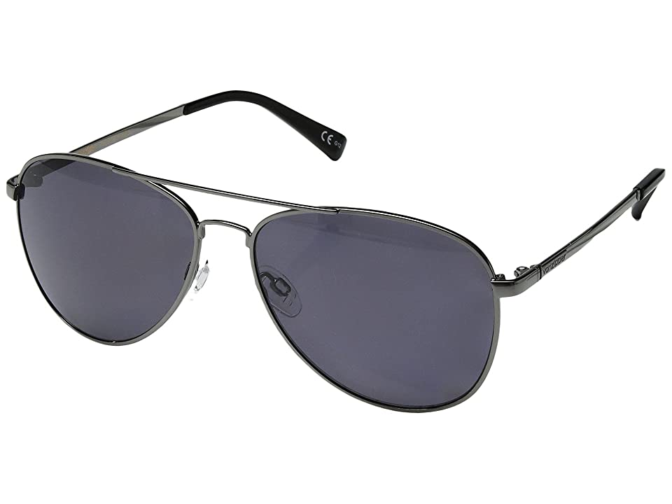 VonZipper Farva Polar (Charcoal Gloss/Wild Vintage Grey Polar) Fashion Sunglasses