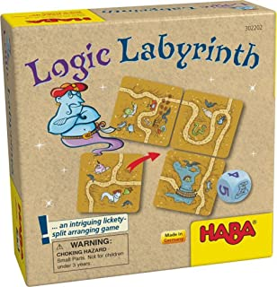 HABA Logic Labyrinth - an Intriguing Lickety-Split Brainteaser Game (Made in Germany), Multicolor