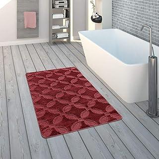 Bagno Tappeto Monocolore A Pelo Alto Antiscivolo in DIV Grandezze e Colori Dimensione:40x55 cm Colore:Pink