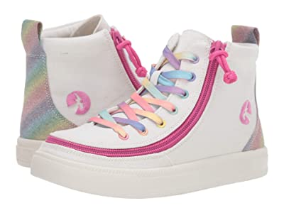BILLY Footwear Kids Classic Lace High (Toddler/Little Kid/Big Kid) (White Rainbow) Girls Shoes