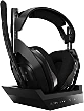 ASTRO Gaming A50 Wireless Gaming Headset + Base Station Gen 4 for PS4 & PC - Black/Silver (with Dolby Audio)