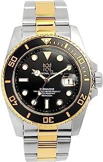 [HYAKUICHI 101] ヒャクイチ ダイバーズ 20気圧防水 腕時計 ウォッチ 逆回転防止ベゼル ブラック×ゴールド
