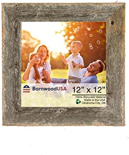 BarnwoodUSA Rustic 12 by 12 Wooden Photo Frame - 100% Reclaimed Wood