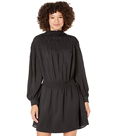 1.STATE Long Sleeve Wide Smocked Dress