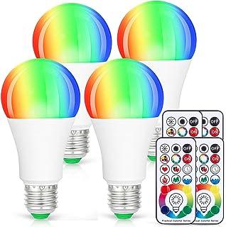 LED Light Bulbs, 4 Pack Dimmable E26 LED Light Bulb, 10W RGBW Color Changing Light Bulb..