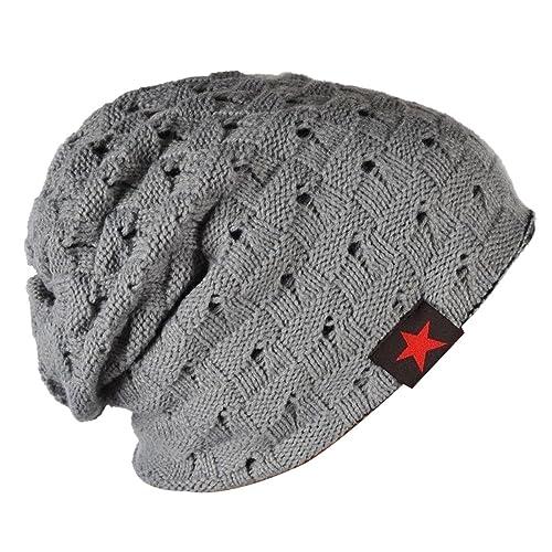bf7e8dd24e1 Thenice Men Reversible Slouchy Beanie Hat Unisex Skull Hat