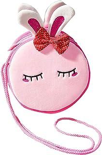 BETOY Borsetta per Bambini Borsa Tracolla Ragazze Borsetta da Principessa di Peluche Giocattoli per Bambina (Coniglio Rosa)