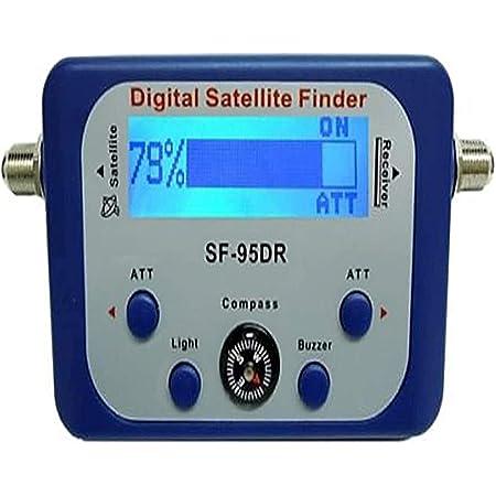 AGPtek Good For Campers Digital Satellite Signal Meter Finder Meter For Dish Network Directv FTA LCD Graphic Display Backlight Compass Buzzer Control