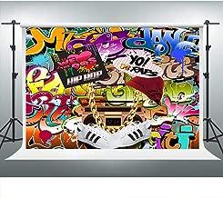 VVM 7x5ft Backdrop 80's 90's Themed Party Decoration Hip-Hop Graffiti Style Photo Booth Background Studio Props LXVV652