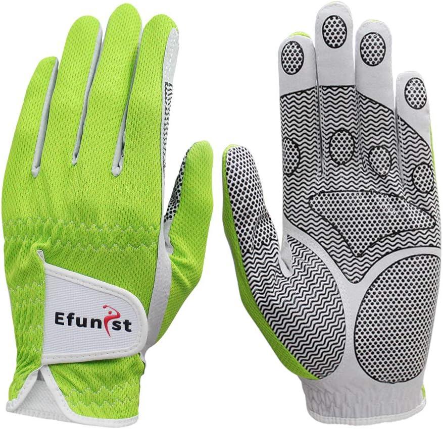 Efunist Men's New mail order Golf Glove 2 Pack Left Hand Wet Same day shipping Hot Swe Weather No