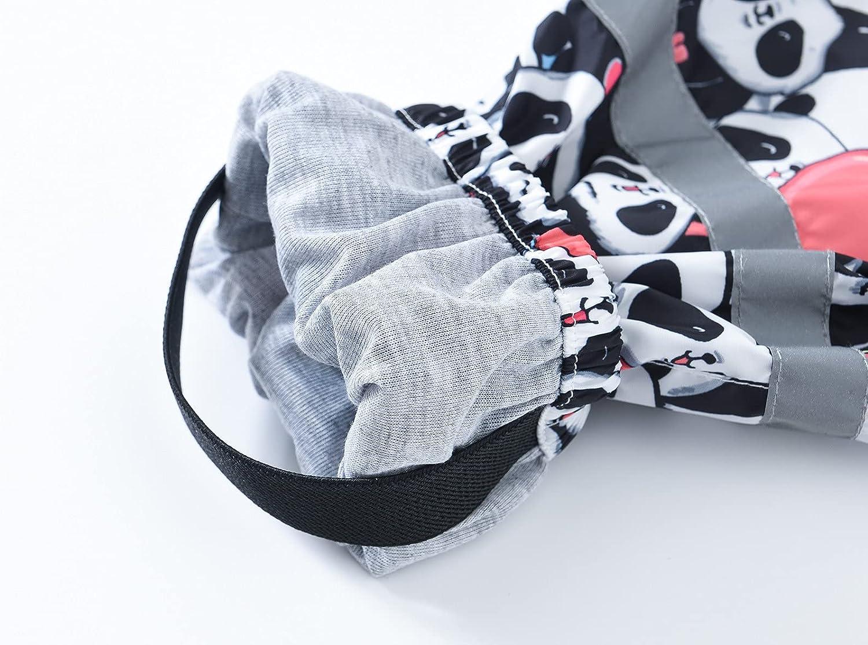 Girls' Cartoon Dinosaur Rain Pants for Kids Lightweight Windbreaker Outwear Mud Dirty Proof Trousers