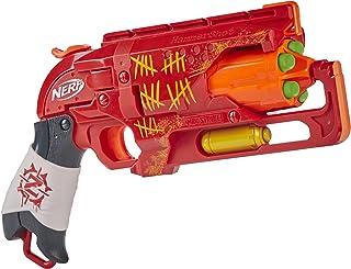 NERF E6338 Zombie Strike Hammershot Blaster -- Pull-Back Hammer-Blasting Action, 5 Official Nerf Zombie Strike Darts -- Re...