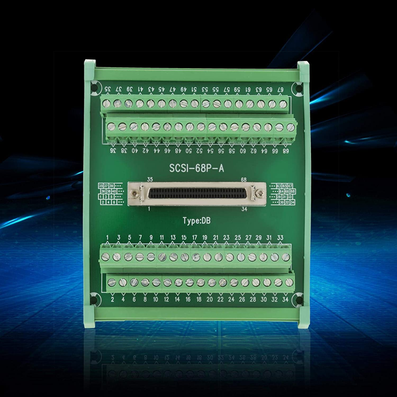 Breakout Module Cheap bargain SCSI68 68-pin Free Shipping New PLC Type DIN Terminal DB F