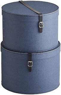 BIGSOBOX 帽子収納ボックス RUT(2個組) H81801(サイズはありません ウ:ネイビー)