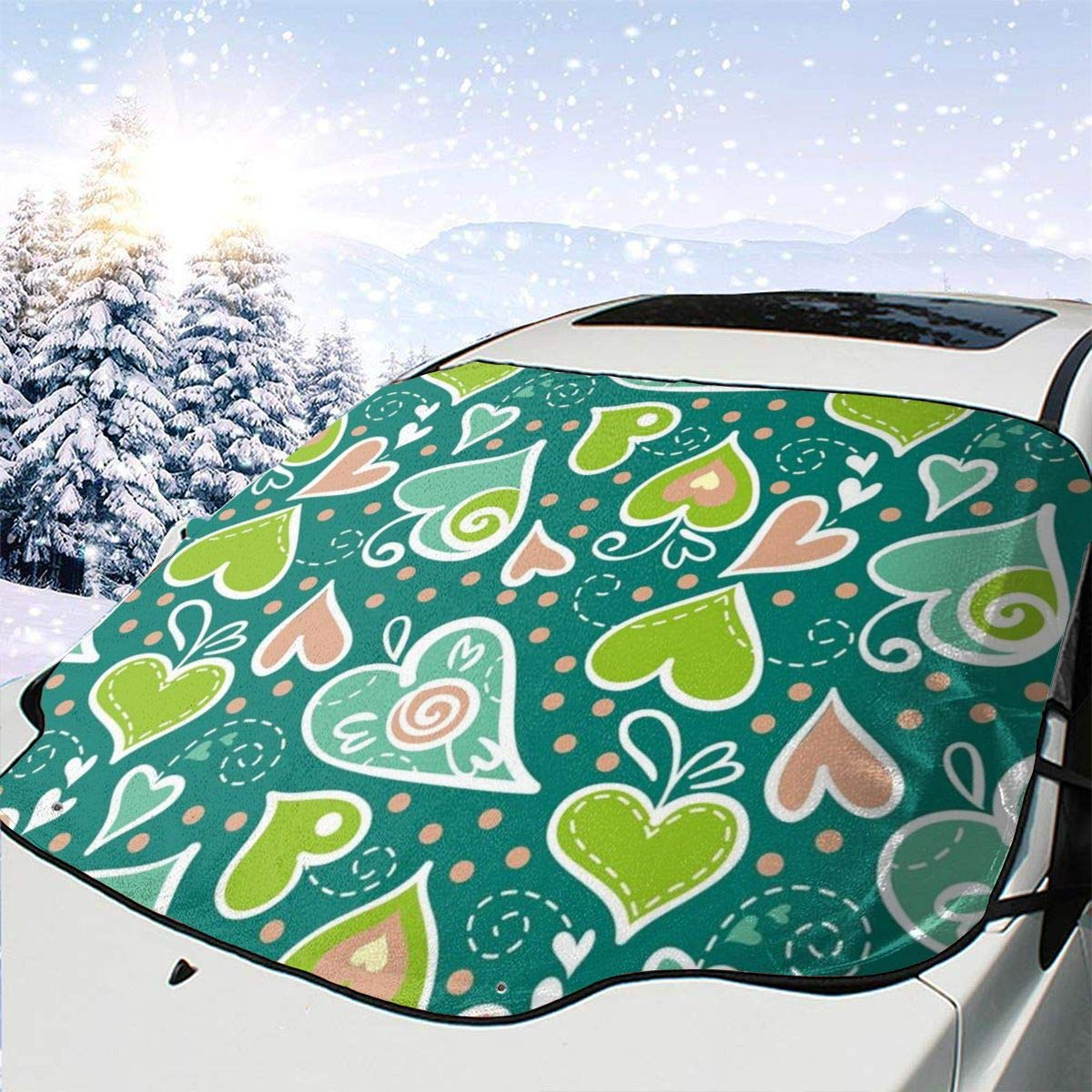 Car San Francisco Mall Front Window Windshield Snow Image Max 68% OFF Cover wi Inspired Nature