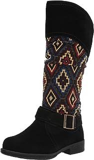 Muk Luks Women's Zip up Fashion Boot, Black Multi, 9