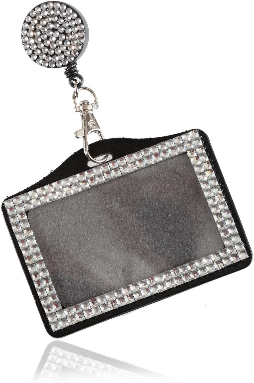 Outlet sale feature Purely Handmade Fashion Retractable Clear Bling Ne Crystal Beauty products Strap