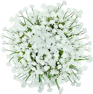GREENRAIN 6 Bundles Artificial Flowers Lotus Outdoor Flowers for Decoration UV Resistant No Fade Faux Plastic Plants Garde...