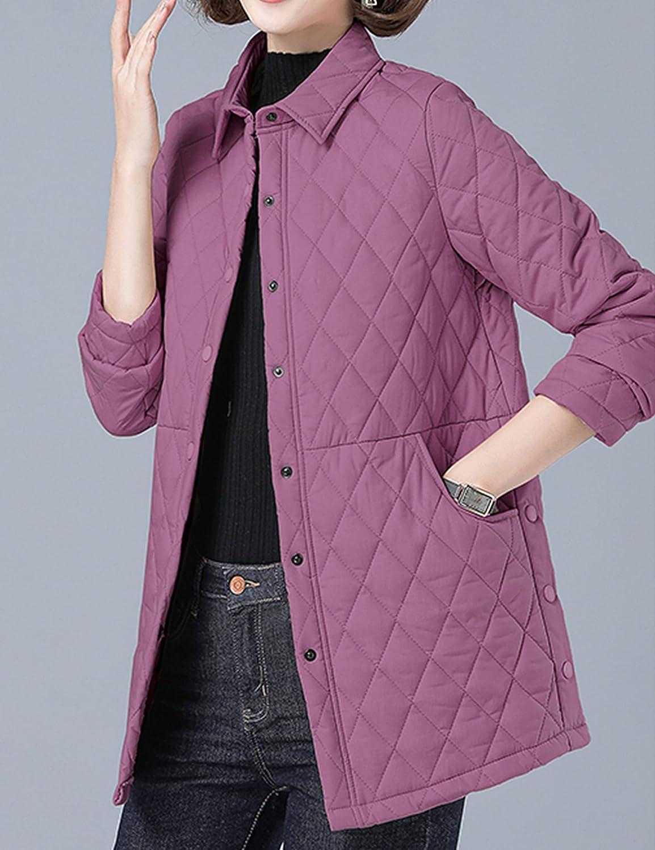 Zontroldy Winter Lightweight Diamond Quilted Jackets for Women Warm Puffer Coat