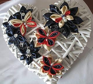 Ghirlanda Cuore in vimini con Fiori e Farfalle in raso, idea regalo decorazioni wedding ghirlanda